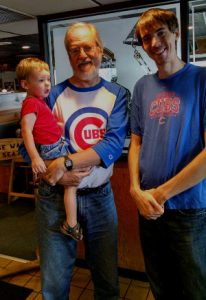 Three generations of Cubs fans